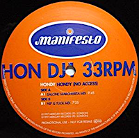 Hondy - No Access - UK Chart No-26 - Club Chart No.1